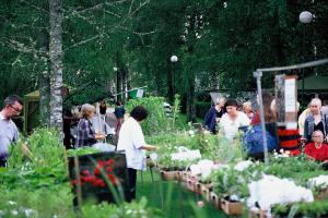 Planskolans utställning på Rottneros trädgårdsfestival